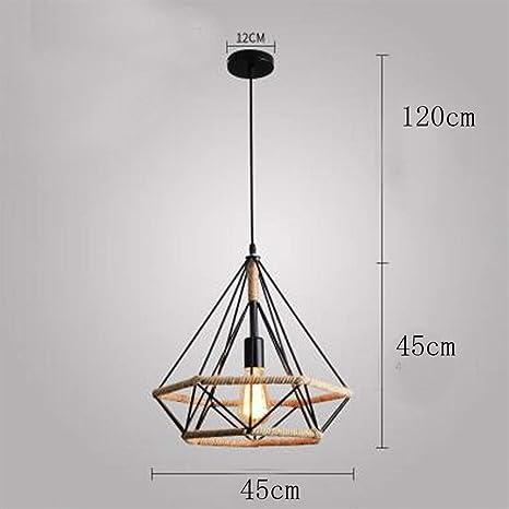 Luces Colgantes De Cuerda De Cáñamo Creativas Modernas Lámpara De ...