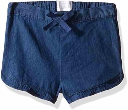 The Children's Place Baby-Girls' Sweet Li'l Chambray Shorts