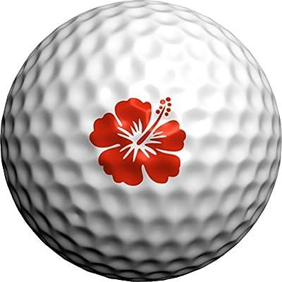 Golfdotz Red Hawaiian Hibiscus