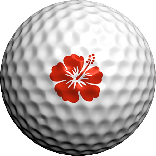- Golfdotz Red Hawaiian Hibiscus