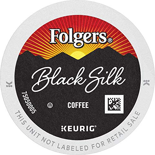Folgers Black Silk Dark Roast Coffee, 96 Keurig K-Cup Pods