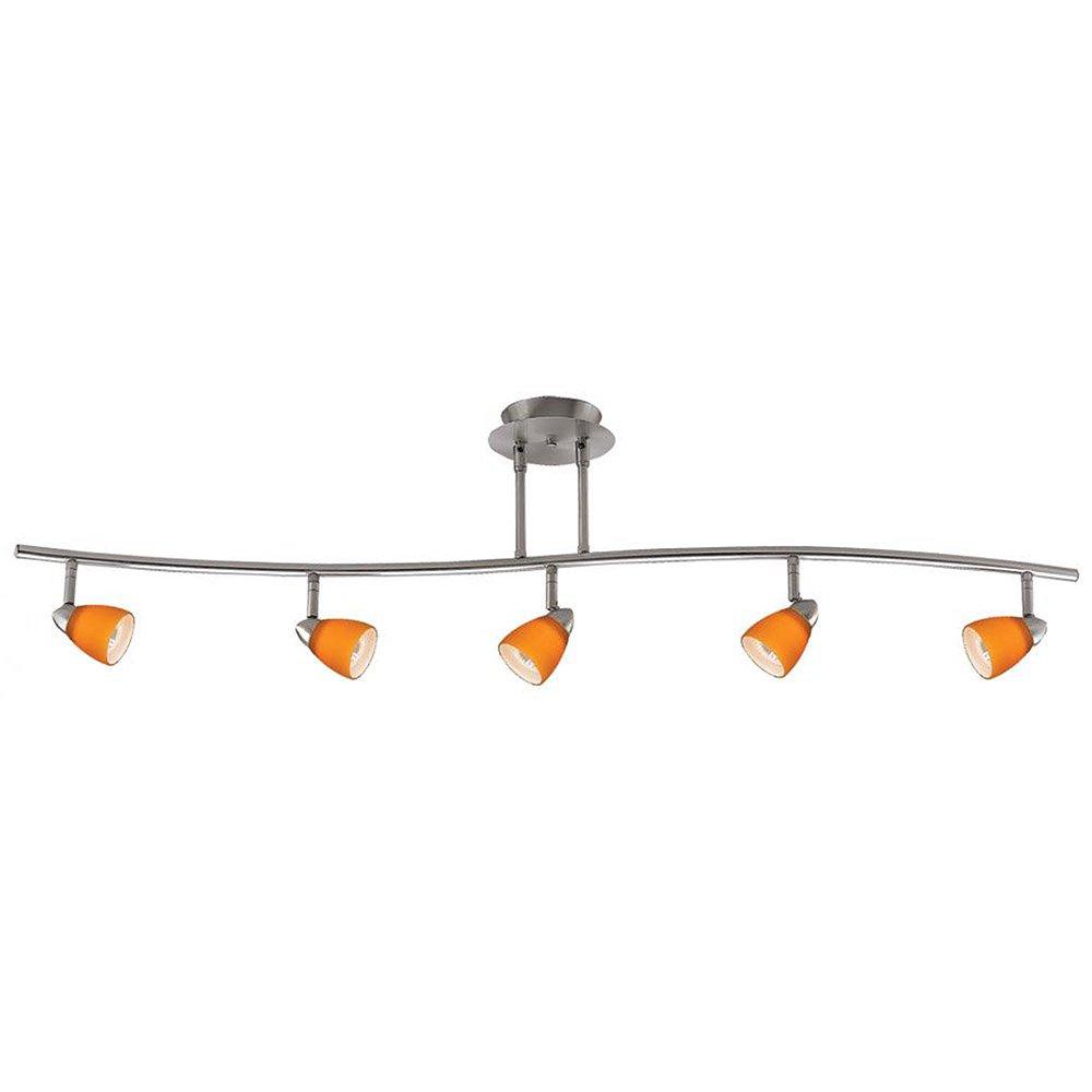 Cal Lighting SL-954-5-BK-MRU Track Lighting, Mesh Rust & Black B003Z8DI8K