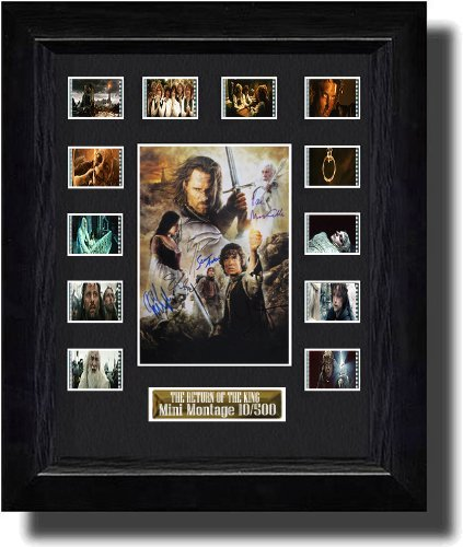 Cast Signed Lord of the Rings The Return of the King (2003) Filmcell, holographic serial numbered by Filmcell.co.uk
