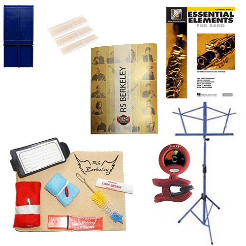 Alto Saxophone Players Mega Pack – Essential Accessory Pack for the Saxophone: Includes: Saxophone Care & Cleaning Kit, Saxophone Reed Pack w/Reed Holder, Music Stand, Band Folder, Standard of Excellence Book 1 for Sax, & Tuner & Metronome