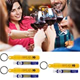 Breath IQ' Alcohol Breathalyzer (FDA Cleared) Portable Blood Alcohol Tester, Keychain & Refills .04 & .08, Disposable