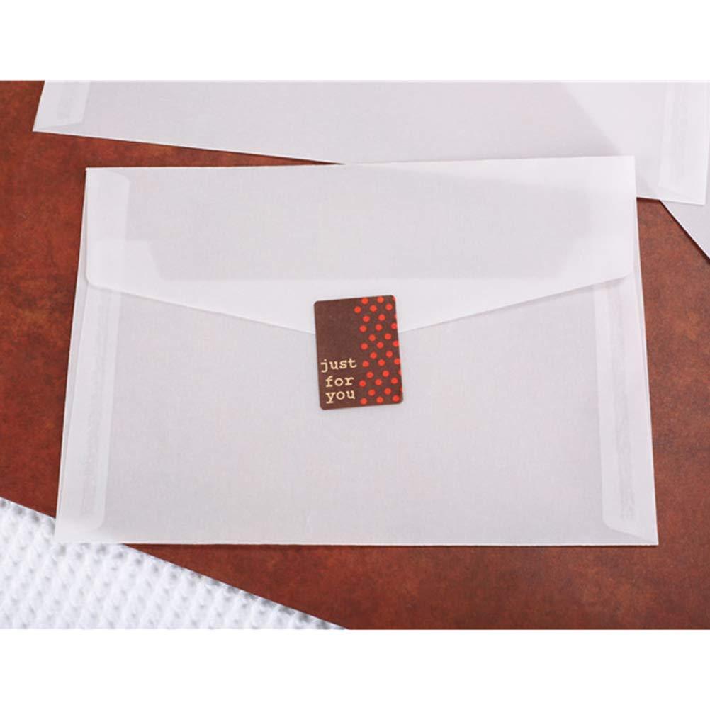 SUPVOX Buste per inviti traslucidi per biglietti dauguri Carta regalo fai da te 12.5x17.5cm 50 pezzi