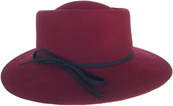 ff545f6615a Brooklyn Hat Co Wrangler Womens Boater Wool Felt Fedora Music Festival Hat
