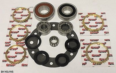 5 Speed Transmission Bearings - Jeep AX15 5 Speed Transmission Bearing Kit with Synchro Rings, BK163JWS