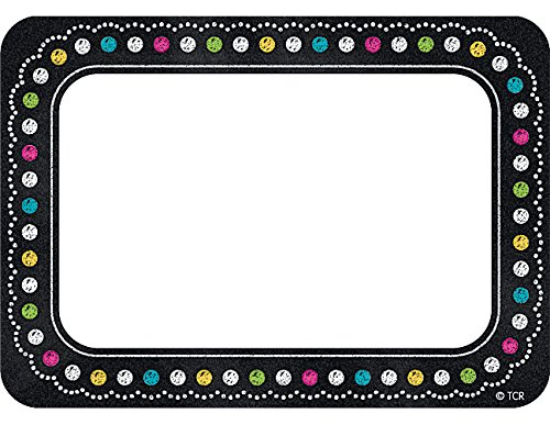 Teacher Created Resources Chalkboard Brights Name Tags (5623)