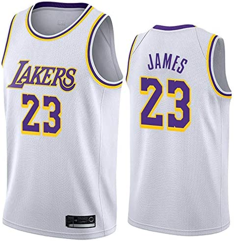 Unisex Sleeveless T-shirt Embroidered Mesh Basketball Swingman Jersey Lakers #23 Jersey A-lee Men/'s Basketball Jersey-LeBron James Sportswear