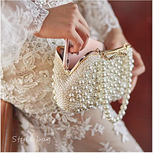 Women's Hand Luxury Prom Beaded Purse Xiaoqin Bridesmaid Ladies Evening Pearl Handbag Clutch Small Party Gorgeous Wedding Bag xnnpBfq