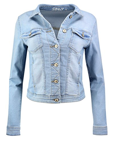Light Veste ONLY hellblau Blouson Blue Femme Denim en jean aY1Oq