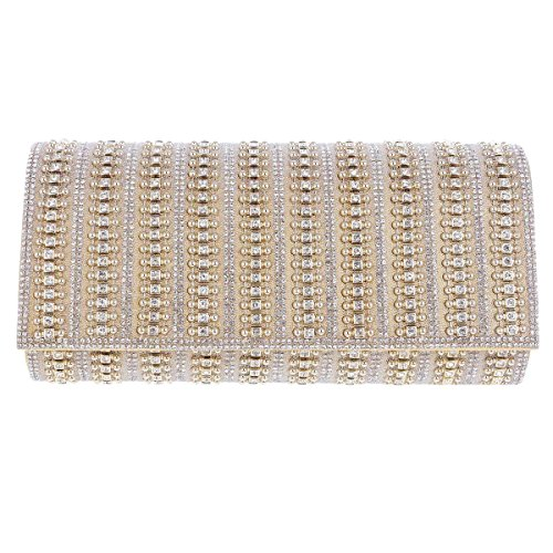 Fiesta Detalle Oro Con Bolsos Hermoso Mujer Para De Del Brillo Damara De Diamantes Imitación De q4TP7wn