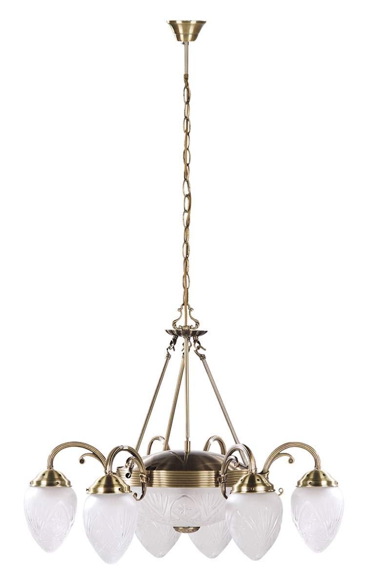 Preciosa Lámpara de Techo de Estilo Art Nouveau / Bronce ...