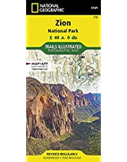 National Geographic Trails Illustrated Topographic Map Zion National Park