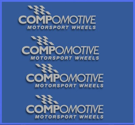 Plata Ecoshirt CI-9QVI-OVMT Pegatinas Compomotive Wheels Dr1096 Vinilo Adesivi Decal Aufkleber Клей Stickers Car Voiture Sport Racing