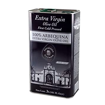 Hacienda Guzman 100% Arbequina Extra Virgin Olive Oil, First Cold Pressed - 102.4 oz