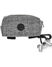 Dog Poop Bag Holder for Leash Attachment - Waste Bag Dispenser for Leash - Fits Any Dog Leash - Portable Set with 1 Hand Free Holder Metal Carrier