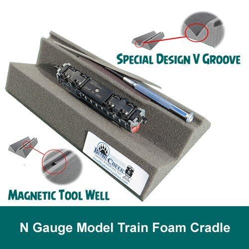 N Gauge Model Train Foam Locomotive   Car Cradle