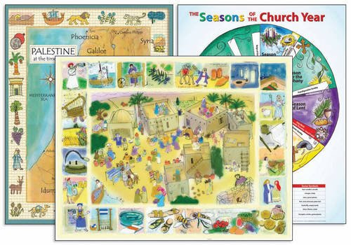 Download Palestine in the Time of Jesus Map; Daily Life in the Time of Jesus; The Seasons of the Church Year: Set of 3 Posters (Laminated Teaching Poster) pdf epub
