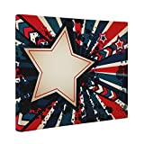 Abstract Star CANVAS Wall Art Home Décor