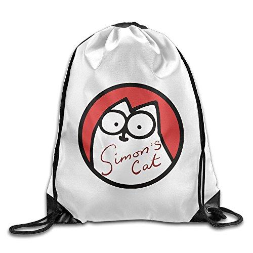 Price comparison product image Unisex Cartoon Simon's Cat Sports Drawstring Backpack Bag