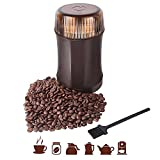 Coffee Grinder AMOVEE Electric Grinder with 304 Stainless Steel Blades for Coffee Beans, Spice, Herbs and More, 200W, Cleaning Brush Included