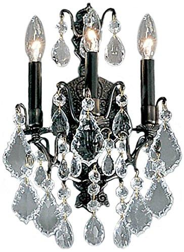 (Classic Lighting 8001 AB Versailles, Crystal Cast Brass, Sconce/WallBracket, Antique Bronze)