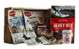 Jerky and Trail Mix Snack Gift (Healthy Snack Gift) - High Protein High Energy Care Package - Comes in a Wooden Gift Crate - Great Gift For Men