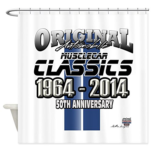 CafePress - 50 Anniversary - Decorative Fabric Shower Curtain