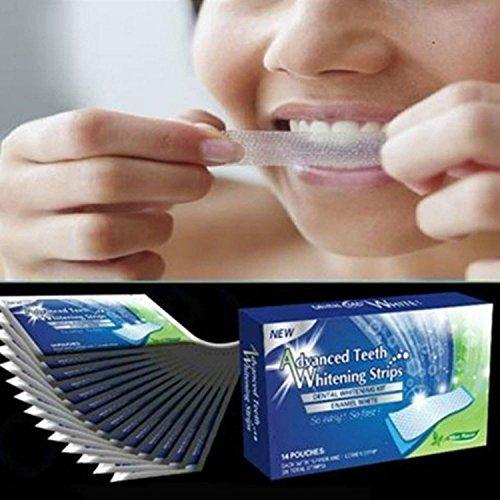 LEVIN dentale 28pcs//set Home Tooth Whitening strips kit Bleaching Whiter Whitestrips