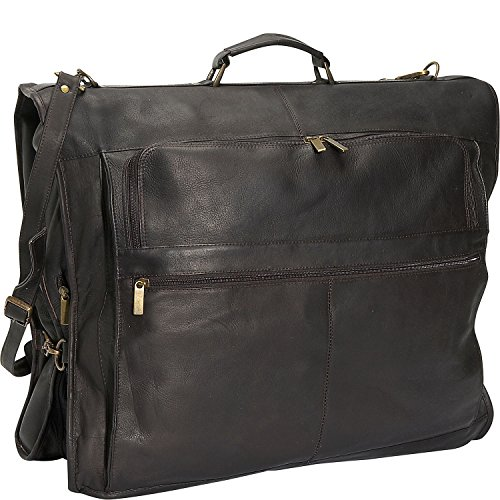 David King Leather 42'' Deluxe Garment Bag in Cafe by David King & Co