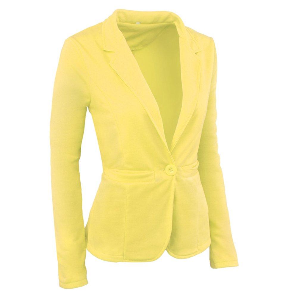 ZKOO Mujer De Un Solo Pecho Blázer Abrigo Americana Blazer Traje Slim Fit Elegante Oficina Negocios Parte Superior Blusa Traje De Chaqueta Outwear: ...