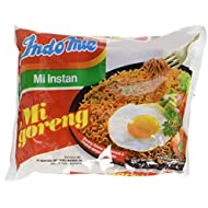 Indomie Mi Goreng Instant Stir Fry Noodles, Halal Certified, Original Flavor, 3 oz, Pack of 30