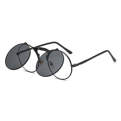 Retro punk estilo gafas de sol abatibles para mujeres ...