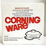 Vintage 1975 New Old Stock Corning Country Festival A-8-9 1.5-Quart Lidded Casserole