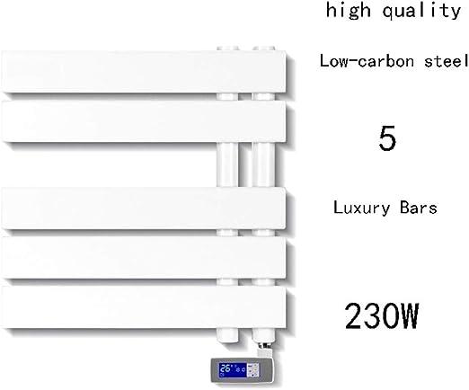 Calentador de toallas montado en la pared, cableado y opciones de enchufe Escalera plana del radiador para un baño elegante Acero con poco carbono, pulverización Sp 455 * 550 * 55MM),Hardwiring: Amazon.es: Hogar