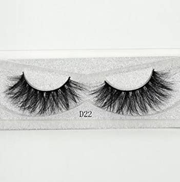 f6e7fca9b65 Amazon.com : Lash Mink Eyelashes 3D Mink Hair Lashes Wholesale 100% Real  Mink Fur Handmade Crossing Lashes Thick Lash 11 Styles New 1Pair D22 :  Beauty