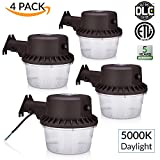 Sunco Lighting 4 PACK - 35W Dusk-to-dawn LED Outdoor Barn Light, 250W Equivalent, 5000K Daylight, 3500lm Floodlight, ETL-listed Yard Light for Area Lighting, Wet Location Photocell Included