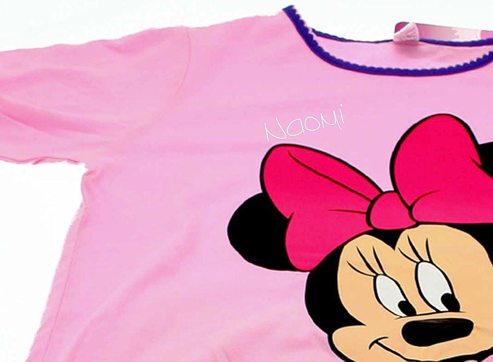 Disney Big Girls Minnie Mouse Personalised Childrens Pyjamas
