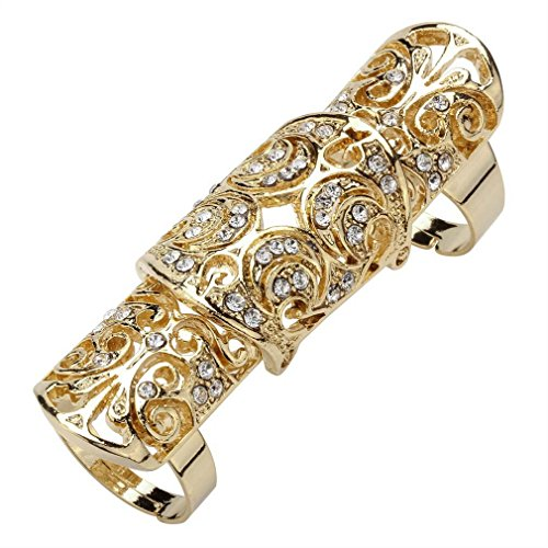 (Hiddleston Well Made Full Finger Rings Jewelry Adjustable Armor Armour Knuckle Long Rings for Women)