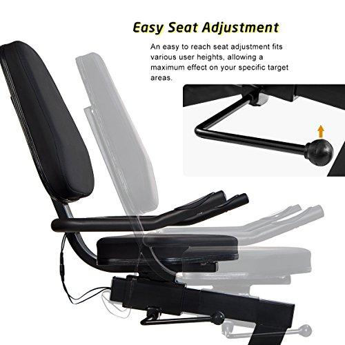 Merax Magnetic Recumbent Exercise Bike | 8-Level Resistance | Quick Adjust Seat (Black 2019) by Merax (Image #4)