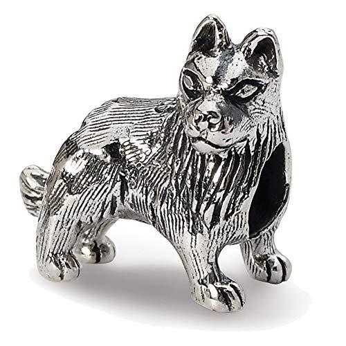 Lex & Lu Sterling Silver Reflections German Shepherd Bead-Prime