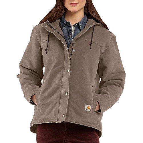 Berkley Collection (Carhartt Women's Sandstone Berkley Snap Front Jacket, Taupe Gray, Large)
