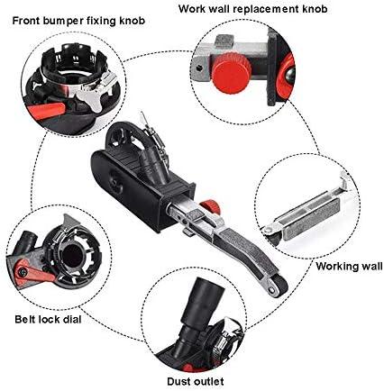 Y DWAYNE Mini DIY Belt Sander Portable Sander Sanding Belt Adapter, Belt machine set, for Electric Angle Grinder
