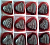 Fancy Dark Chocolate Marzipan Hearts - 24 pcs