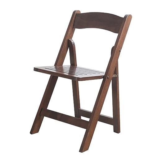Chair QL sillones Plegables Silla de Comedor Silla de Madera ...