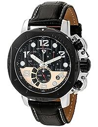Swiss Legend 10538-01-BB-RP Men's 'Scubador' Quartz Stainless Steel and Leather Automatic Watch, Black