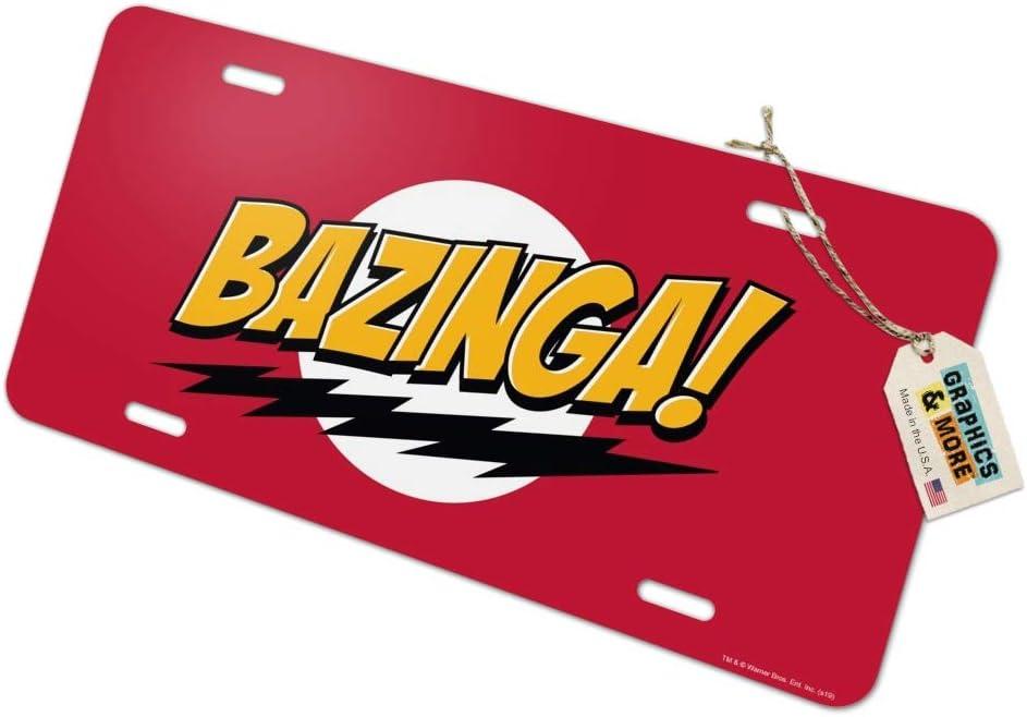 Graphics and More The Big Bang Theory Sheldon Bazinga Novelty Metal Vanity Tag License Plate