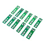 Plastic Prepared Microscope Slides of Animals Insects Flowers Plants, 12pcs (Green)
